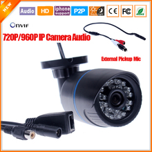 Micro Bullet Camera Audio Camera External Microphone IP Camera Outdoor Megapixel 720P 1.3MP 960P IP Cam Security & Protection