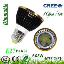 10X Dimmable E27 / GU10 / GU5.3 / E14 Par20 9W 12W 15W AC85-265V High Power Led Light Bulbs LED Lamp Spotlight Good quality(China)