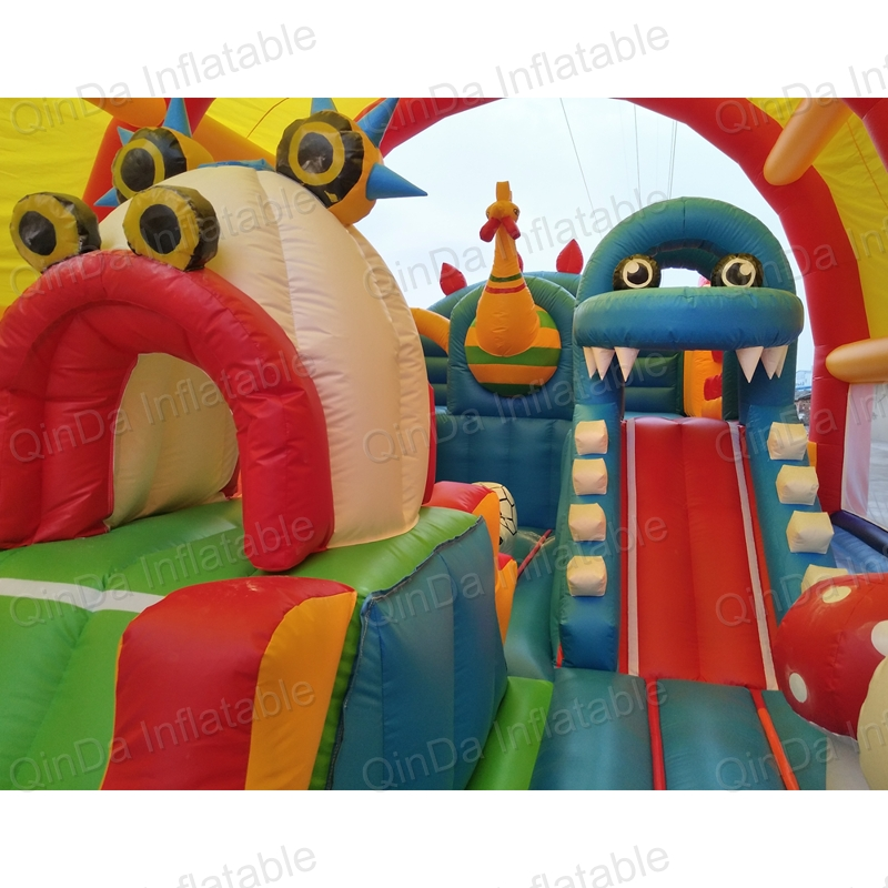 inflatable bouncer slide fun city castle(25)