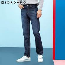 Giordano Men Brand Jeans Fashion Casual Male Denim Pants Cotton Classic Straight Jeans Masculina Mid Rise Denim Trousers(China)