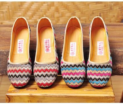 Size 35-40 # 2 Colours Fashion Casual Hemp Lady Flat Shoes Clothing Women Flats Girls Candy Chinese Folk Shoes C013<br><br>Aliexpress