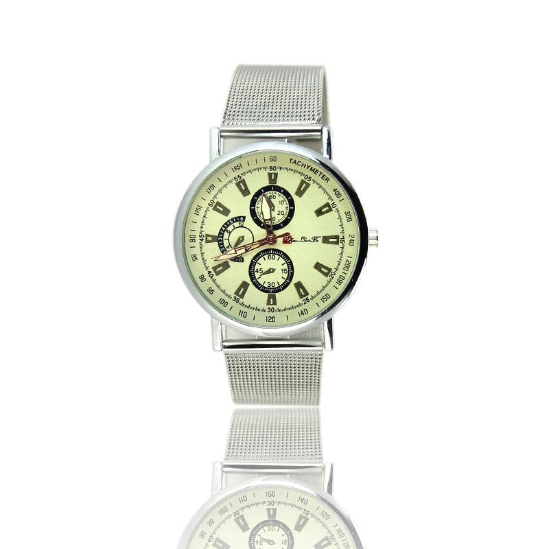 Alloy Watches 2017 Silver Mesh Watch Men Women Unisex Stainless Steel Montre Homme Male Watches Waterproof 30 Mens Wristwatch <br><br>Aliexpress