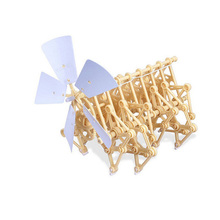 DIY Wind Powered Walker Walking Strandbeest Puzzle Toy Assembling Model Interesting Toys for Children Education Gift with Box(China)
