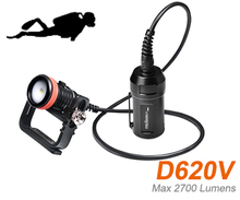 ORCATORCH D620V Led Dive Light CREE XHP70 LED 2700lm Scuba Diving Canister Goodman Handle Photo/ Video Light 150M Underwater(China)