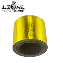"LZONE RACING - 2""x5 Meter Aluminum Reinforced Tape Adhesive Backed Heat Shield Resistant Wrap Intake JR1613(China)"