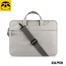 "Gray Portable Air/Pro 11 12 13 14 15 15.6""in Messenger Portable Laptop Shoulder Bags For MacBook Samsung Lenovo HP Acer Notebook"