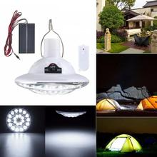 22 LED Rechargeable Super Bright Outdoor Remote Control Lights Solar Camping Lights Flashlight Yard Automatic Sensor Garden lamp(China)