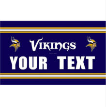 Minnesota Vikings Custom Your Text Flag 3ft x 5ft Polyester Football Team Banner Flying Super Fan Flag