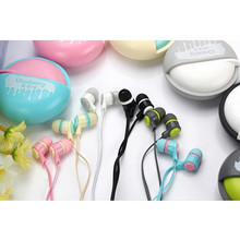 Cute In-Ear Earphones For Samsung/Iphones/Mp3 Macarons Design Earphone With Microphone Headset 3.5mm