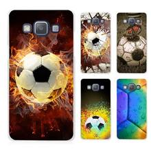 Fire Football Soccer Ball Clear Transparent Cell Phone Case Cover for Samsung Galaxy A3 A5 A7 A8 A9 2016 2017