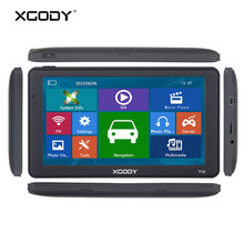XGODY 7 inch Gps Navigator Russia Navitel 256M 8GB Capacitive Screen Car Truck Navigation Europe Ship From Spain Italy Free Map(China)