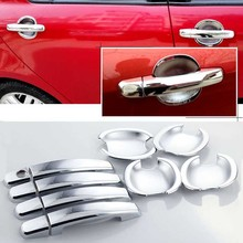 For Suzuki Swift Car Chrome Door Bowl Cover Stickers Interior Decoration Sequins Brand Auto Accessories Styling