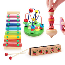 8 Note Baby Children Dog Xylophone Hand Knock Wooden Piano Octave Musical Instrument Wisdom Glockenspiel Development Toys