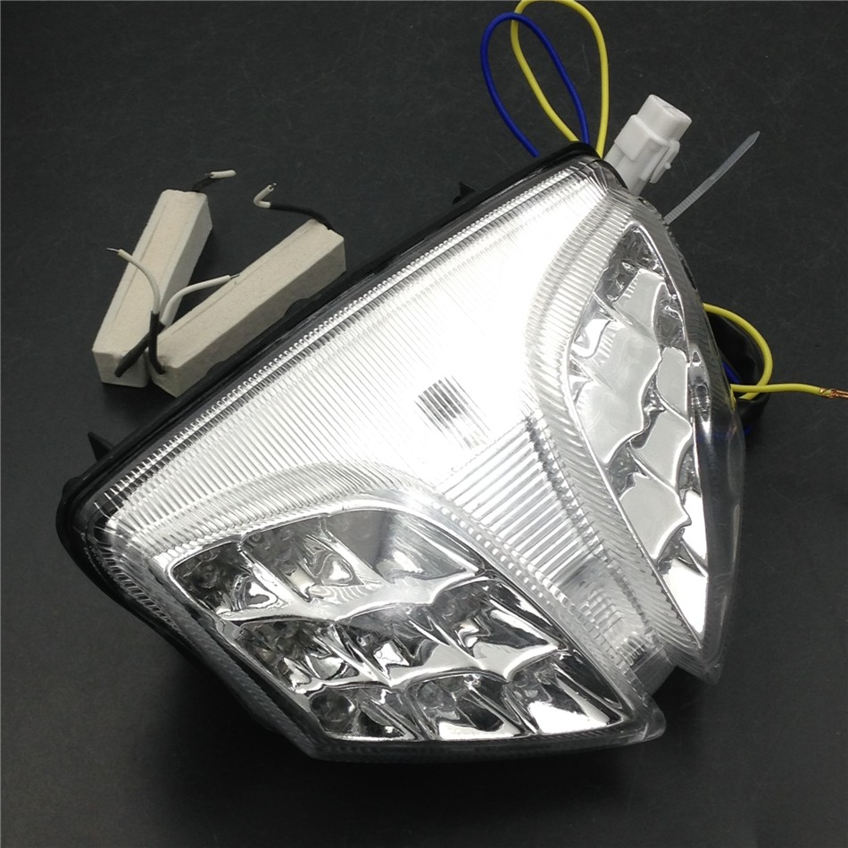 Aftermarket free shipping motorcycle parts LED Tail Brake Light for 2008-2009 Suzuki GSXR 600 GSX-R600 750 GSX-R750 CLEAR<br>