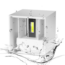 AC 220V Waterproof 7W Aluminum Cube COB LED Wall Lamp Light Modern Home Lighting Indoor Outdoor Decoration(China)