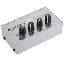 MX400 Ultra-compact Low Noise 4 Channels Line Mono Audio Mixer with Power Adapter(China)