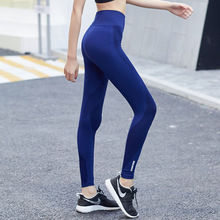 Buy 2018 High Waist Elastic Leggings Women Black Gray Blue Slim Sexy Fitness Leggings Push Sporting Leggings Workout Pants for $11.69 in AliExpress store