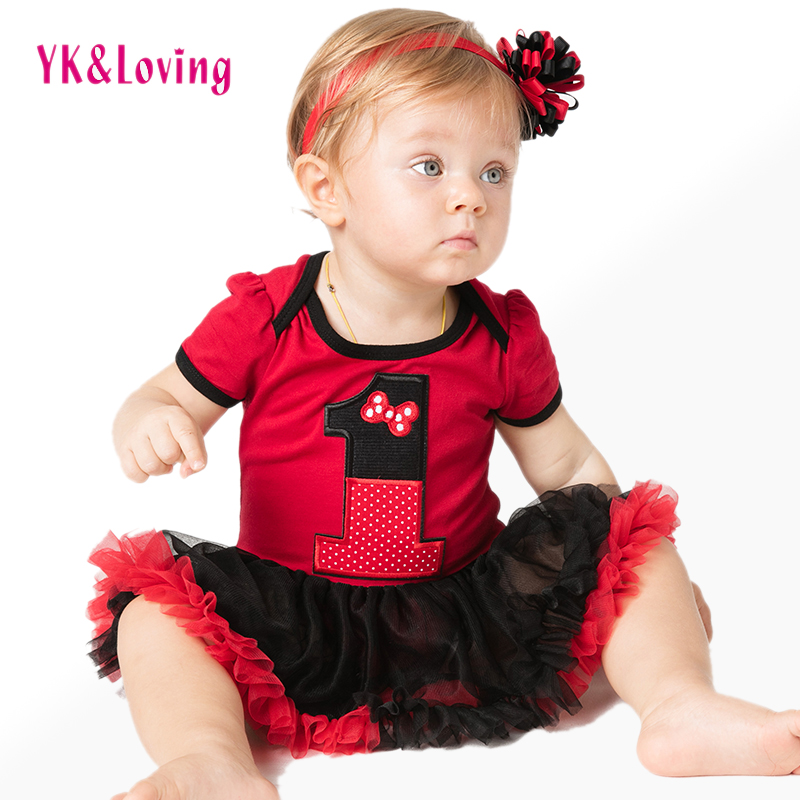 New Infant Clothing Set Baby Girl Tutu Dress 1st Birthday Party Outfit Romper Bubble Dress for Toddler 0-2Y Summer Clothes A<br><br>Aliexpress