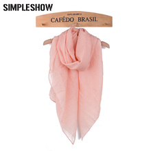 2017 Fashion Brand Women's thin Scarf  Shawl Solid Color  Summer Scarfs  For Women Soft Femal Scarf Multi-color Wholesale