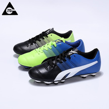 2017 New Football Boots Men Soccer Cleats Bright High Ankle Breathable Football Sneakers Original Big Size Sports Soccer Boots(China)