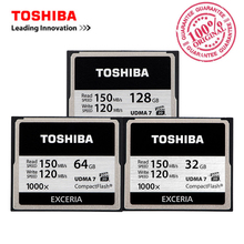 TOSHIBA 32GB 64GB 128GB CF card professional compact flash Card High Speed 150MB/s UDMA7 1000X for camera camcorderadn vidieo(China)