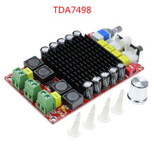 XH-M510 TDA7498 high power digital power amplifier board 2*100W automotive power amplifier DC 14-34V
