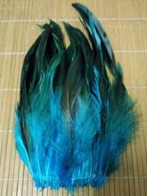 "Hot! Sale 20pcs / lot high quality Light blue pheasant feather, 5-7 ""/ 12-18cm DIY jewelry accessories, wedding decorations(China)"