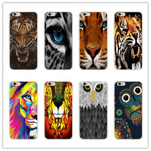 Lovely tiger lion owl Phone Case For samsung s6 s7 edge s3 s4 s5 s6 s7 Hard Smooth Cover For iPhone 4 5 7 5 s 5 6 7 c plus cases