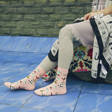 Kawaii Japanese Cartoon Animal In Tube Women Cotton Socks Printed Cute Sheep Cow Wolf Pig Female Casual Sock Leisure Sox 5Color(China)