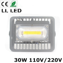 Smart design LED Flood Light 30W super slim IP65 Waterproof AC220V 110V Outdoor led Light Garden Lamp garage free shipping(China)