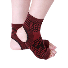 2 pcs Elastic Knitted tourmaline magnetic therapy Ankle Brace Support Band Sports Gym Protects Therapy shoes ankle protector(China)