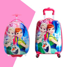 16'' 18'' 20''  Girls Princess Queen Suitcase On Wheels/Kids Elsa Anna Travel Luggage/Children Cartoon Snow School Trolley Bags