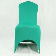 100pcs Tiffany Green Lycra Stretch Chair Covers Spandex Banquet Chair Seat Covers For Hotel Wedding Decoration
