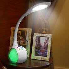 RGB Colors Touch Switch Desk Lamp Led Color Change Reading Light Folding LED Light Book Reading Lamp With US Plug(China)