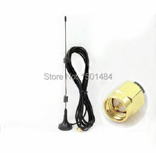 Wifi Antenna 2.4Ghz 7dbi high gain magneticl base extension cable with SMA male level Polarization NEW Wholesale wifi router