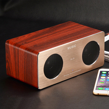 Portable Wireless Bluetooth Rechargeable Natural Unique Wood Speaker Hi-Fi Boxes for Computer Phones