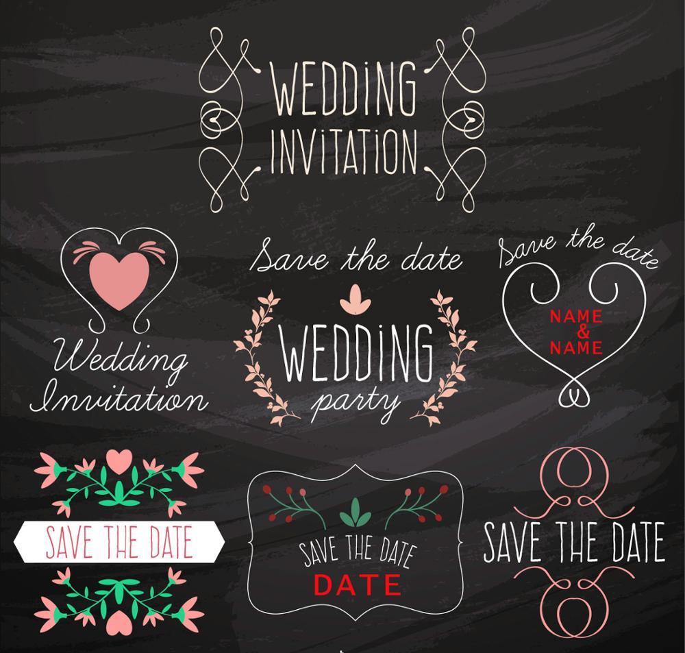black background simple decorations wedding invitation backdrop