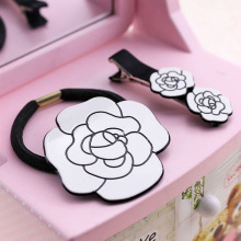 Hair accessories Camellia hair clip bang hair hoop hair circle edge clip to tire, free home delivery(China)