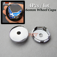 Hot sale 60mm 2.36inch auto Wheel Center cap modified Custom for wing logo  fit all car series