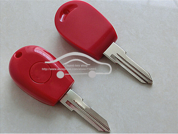 New Replacement Transponder Key Shell for Alfa Romeo 145 146 155 GTV Spider Uncut Case Fob Red Color(China (Mainland))