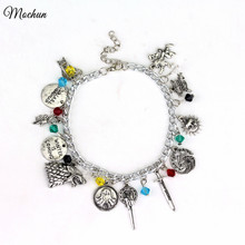 MQCHUN Game of Thrones unisex charm bracelet Hand of the King Targaryen Dragon Badge Winter Is Coming wolf Drop Shipping
