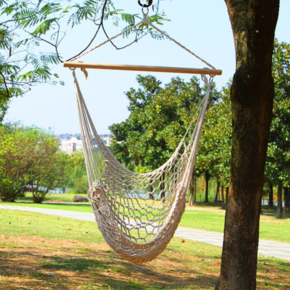Kids Adults Cotton Rope Net Outdoor Swing Seat Hanging Patio Garden Chair New Arrival<br>