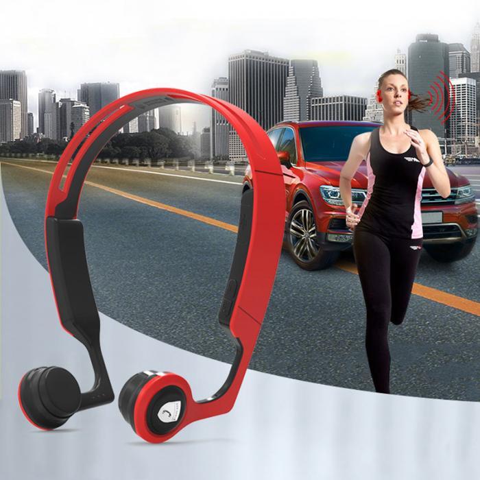 Bluetooth V4.2 Earphones Wireless Stereo Headsets Cheek Bone Conduction Sweatproof Sports Headphones for iPhone Samsung eals @JH