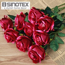 10 Pcs/Lot Wedding Decoration Rose Artificial Flowers Romantic Date /Party Sending Roses Silk Flower Bouquet