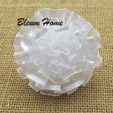 4pcs Pure white flowers headband Gum Elastic rubber Hair Band For Girl kid bows fashion Tie Hair Accessory scrunchies wholesale