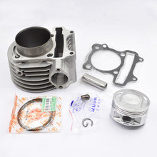 Buy High Motorcycle Cylinder Kit 61mm Bore GY6 GTS175 GTS 175 161QMK Engine Scooter Moped for $51.39 in AliExpress store