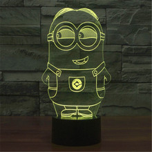 Bulbing 3D Small yellow people LED lamp children's  home decoration night light camping outdoor  Lighting table lamp 25
