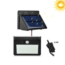 Separable solar panel easy to charge led solar lamp 3 modes indoor / outdoor solar light bulb garden yard night emergency light