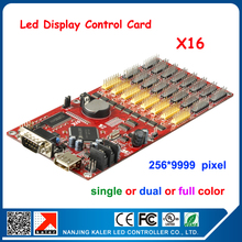 kaler Free shipping X16 256*9999 pixel led display controller card RGB color led screen display controller