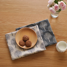 New Cotton Placemats Rectangle Washable Table Napkin Wedding Party Printed Pads 100 linen napkins cloth guardanapo